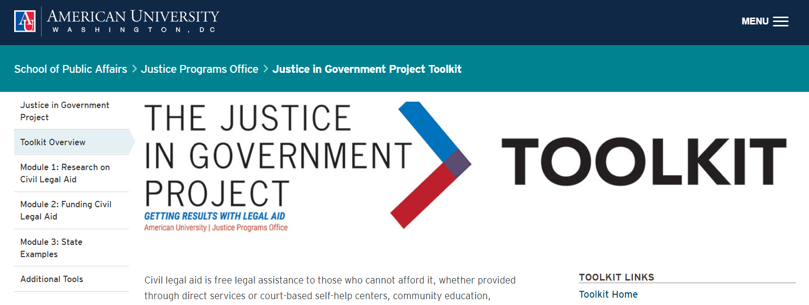 Justice in government project toolkit