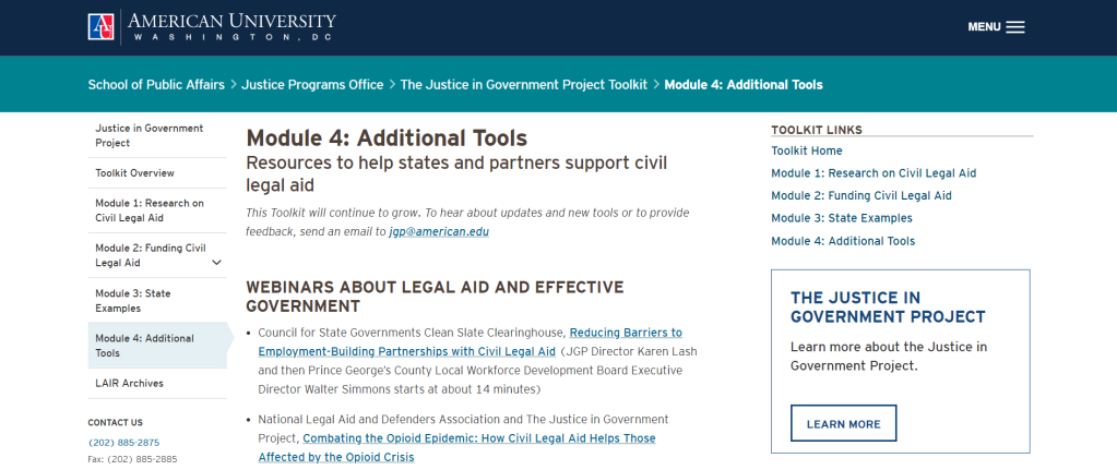 Justice in government project toolkit module 4